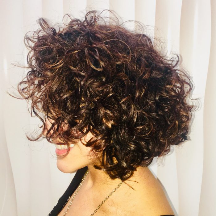 Curly Hair cut and style